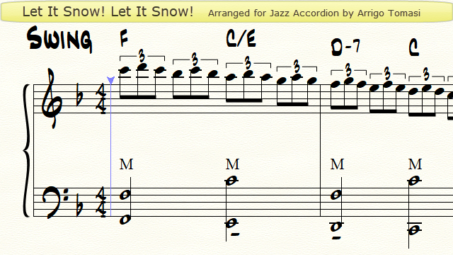 Let It Snow for Jazz Accordion - Youtube